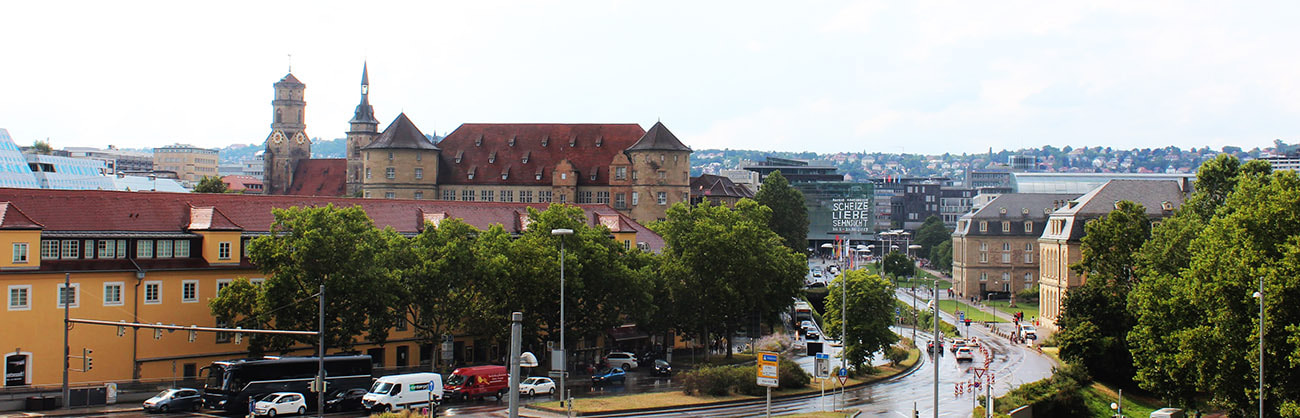 panoramic view from Stuttgart City Center